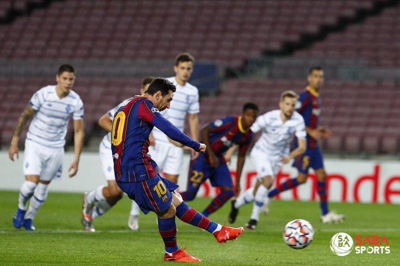 Messi đã có 3 bàn thắng từ 11m trong 3 trận ở C1 năm nay