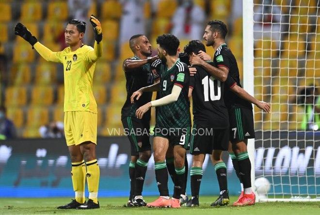UAE đợi quyết chiến với tuyển Việt Nam cho ngôi đầu bảng G.