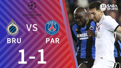Club Brugge vs PSG - bảng A cúp C1 2021/22