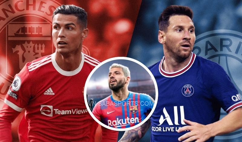 Aguero thừa nhận Ronaldo trên trình Messi ở một số khoản