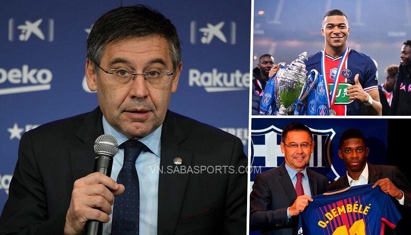 Bartomeu tiết lộ Barca bỏ Mbappe chọn Dembele, khẳng định sẽ quay lại tranh cử