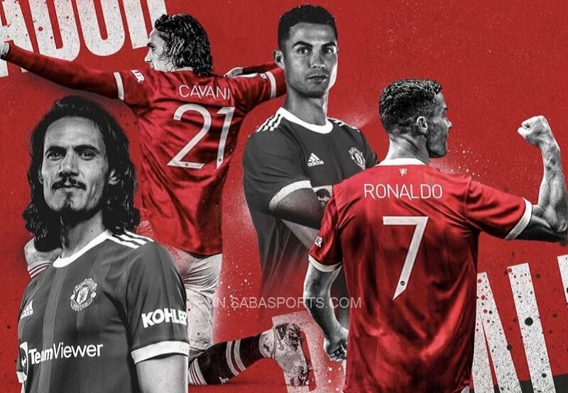 Cavani giữ tinh thần cạnh tranh lành mạnh với Ronaldo. (Ảnh: Manchester United)