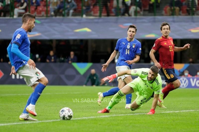 Pellegrini rút ngắn tỷ số xuống còn 1-2 cho ĐT Italia
