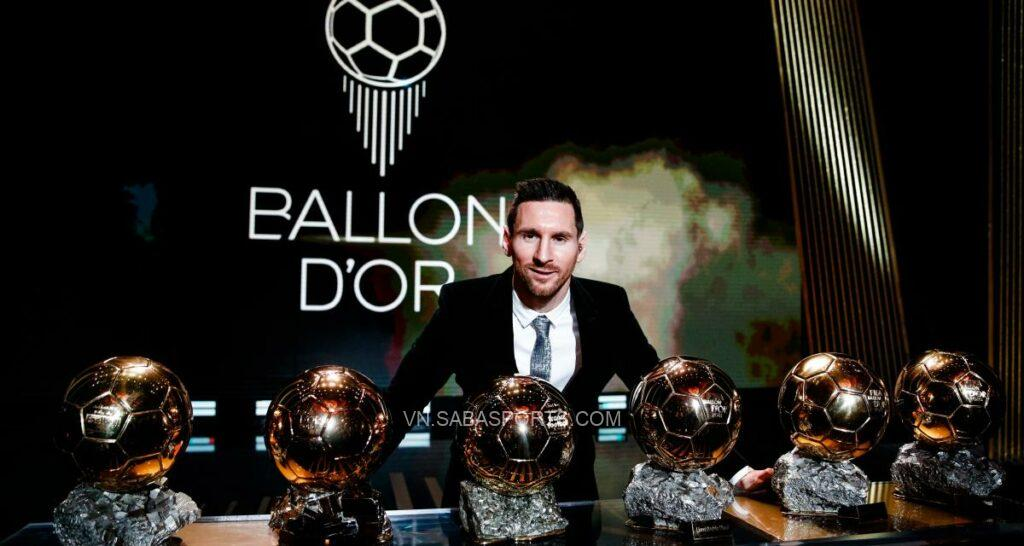 Messi đang giữ kỷ lục với 6 QBV