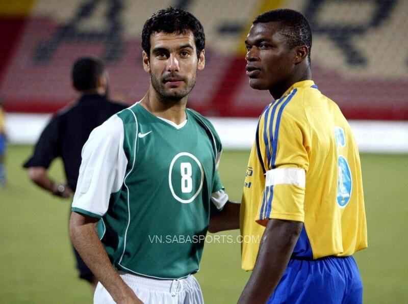 Pep lúc còn thi đấu tại Qatar