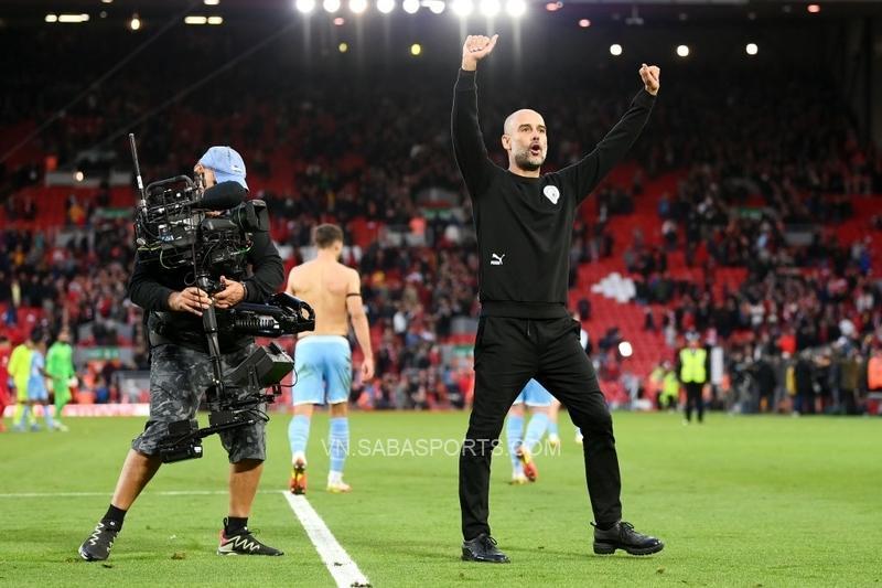 Pep Guardiola tỏ ra khá hài lòng với 1 điểm có được ở trận đấu này