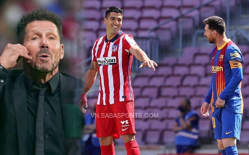 Suarez chưa kịp thực hiện yêu cầu của Simeone thì PSG đã xuất hiện. (Ảnh: Twitter)