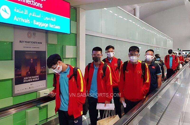 ĐT Việt Nam có mặt ở UAE. (Ảnh: VOV)