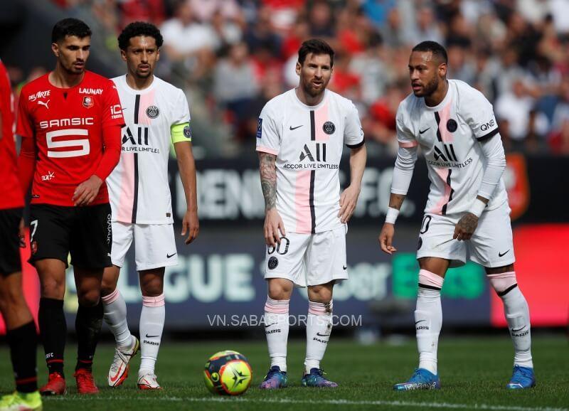 Các ngôi sao tấn công của PSG 'mất tích' trong trận gặp Rennes