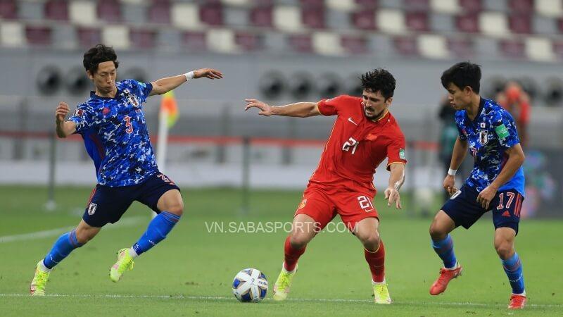Trung Quốc hoàn toàn lép vế trước Nhật và may mắn chỉ thua 1 bàn